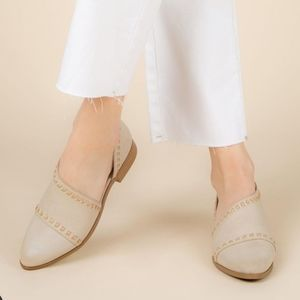 Shoes - Arrived tone Open Shank Ballerina Mules